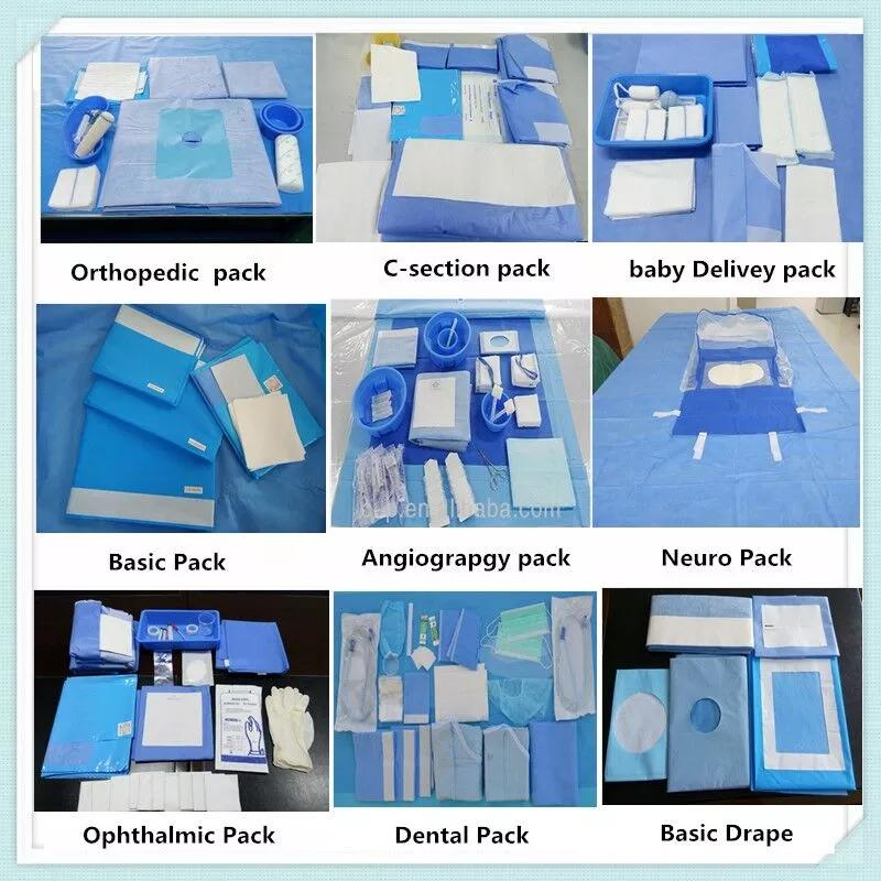 surgical pack, surgical gown, surgical drape